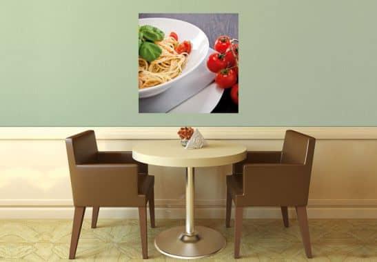 Italiaanse Keuken Teksten : Muurprints Italiaanse Pasta – vierkant – wall-art.nl