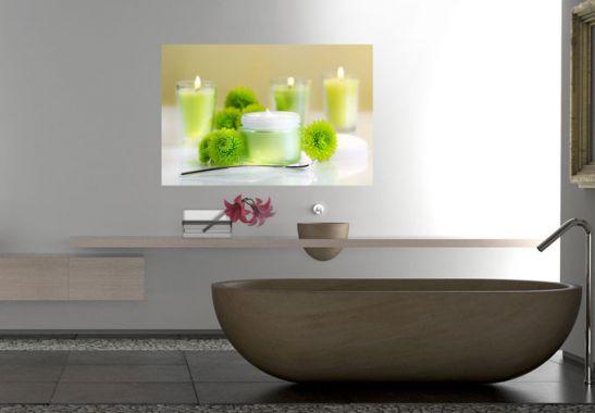 wallprint candle lemon wandbilder f r bad und schlafzimmer wall. Black Bedroom Furniture Sets. Home Design Ideas