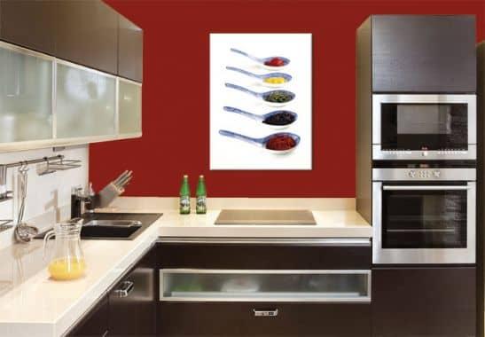 wandbilder f r k chen canvas print spices wall. Black Bedroom Furniture Sets. Home Design Ideas