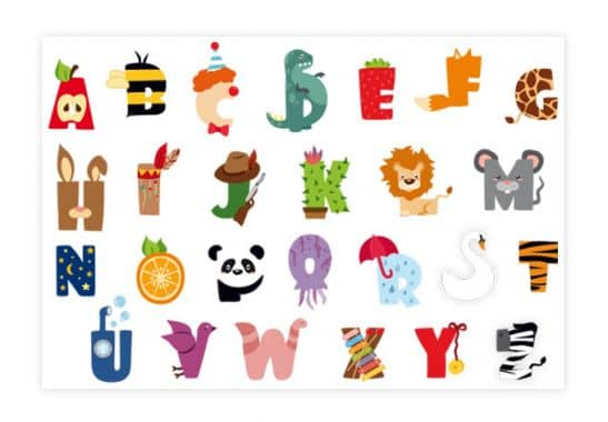 kids alphabet wall sticker wall art com