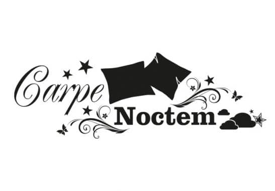 carpe noctem 2 wall sticker wall. Black Bedroom Furniture Sets. Home Design Ideas