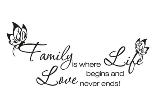 Wandtattoo family is where life begins wall - Wandtattoo family ...