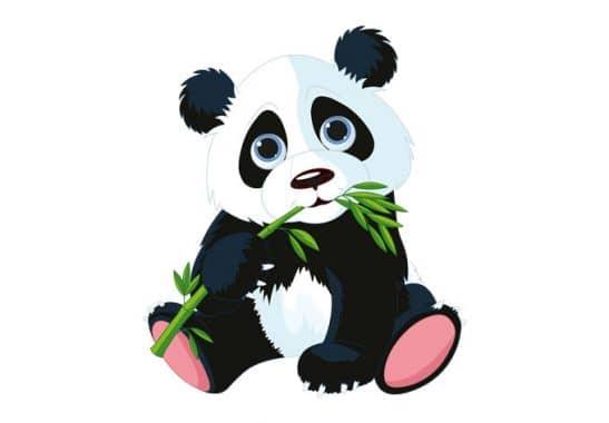 wandtattoo naschender panda wall. Black Bedroom Furniture Sets. Home Design Ideas