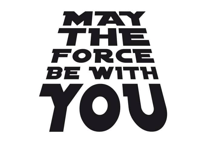 May The Force Be With You Clip Art | butik.work