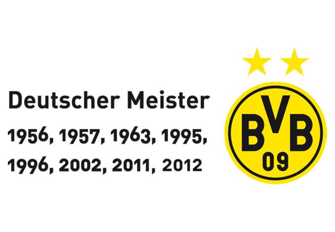 Wandtattoos Borussia Dortmund  BVB Logo mit Sterne