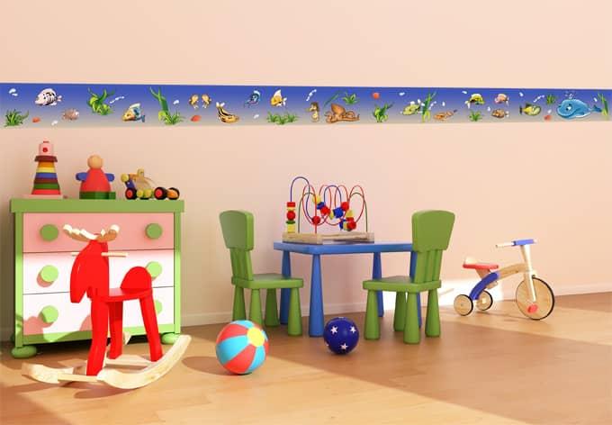Bord re f r kinder und bad unterwasserwelt wall for Kinderzimmer unterwasserwelt