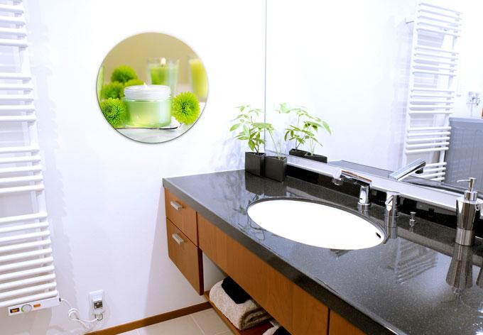 Rundes glasbild candle lemon von k l wall art gr nes - Glasbild badezimmer ...