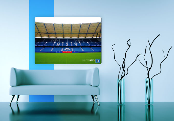 hsv wandbilder aus glas volksparkstadion wall. Black Bedroom Furniture Sets. Home Design Ideas
