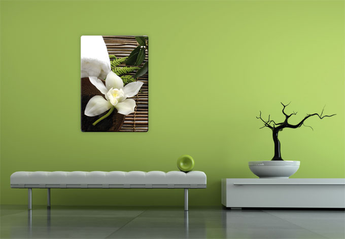 Glasbild wellness orchidee entspannung f r ihr zuhause - Glasbild badezimmer ...