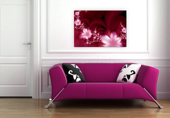 glasbild effects wandbild im zarten brombeer ton wall. Black Bedroom Furniture Sets. Home Design Ideas