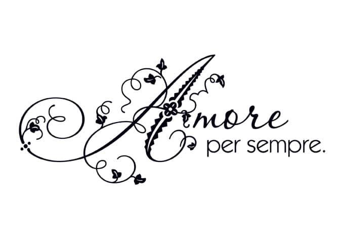 Amore per sempre liebe f r immer als deko wall - Wandtattoo italienische spruche ...