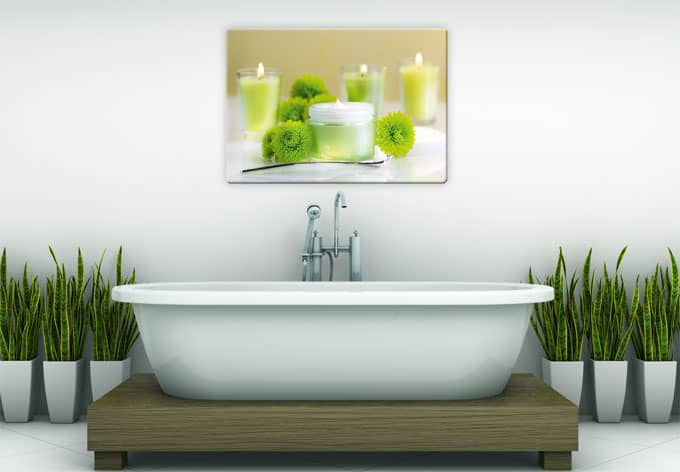 glasbild candle lemon bilder f r ein romantisches ambiente wall. Black Bedroom Furniture Sets. Home Design Ideas