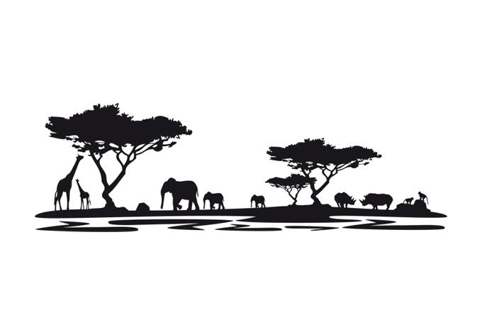 wohnzimmer afrika deko:Wandtattoo Afrika 5 – afrikanische Deko für Wohnzimmer