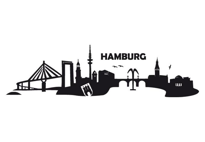 hamburg skyline 2 wall. Black Bedroom Furniture Sets. Home Design Ideas