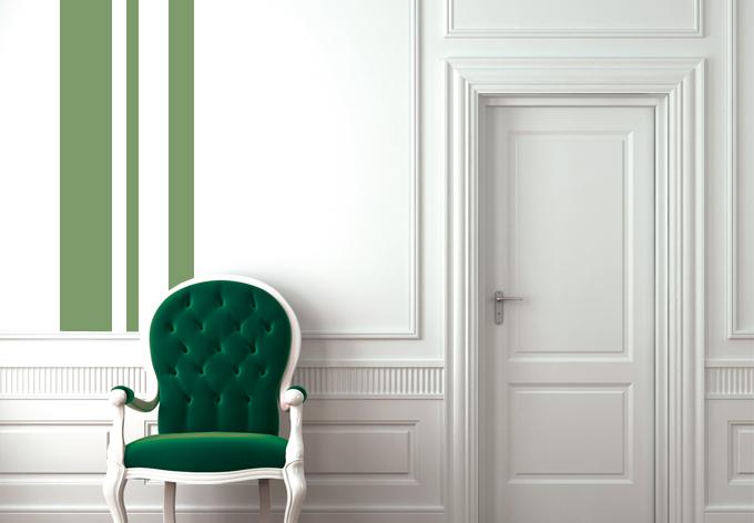 wandtattoo retro streifen dekoration f r wei e raufaser w nde wall. Black Bedroom Furniture Sets. Home Design Ideas