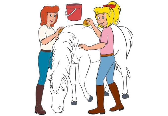wandsticker bibi und tina  bibi tina und ihr pferd