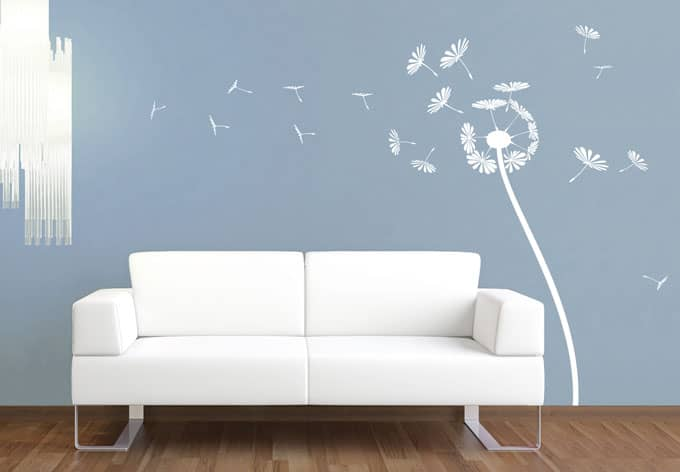 wandtattoo pusteblume elegante pusteblume als wandtattoo. Black Bedroom Furniture Sets. Home Design Ideas