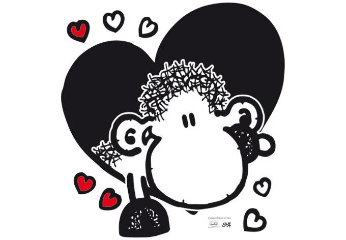 Wandtattoo sheepworld Schaf im Herz - die richtige Deko ...