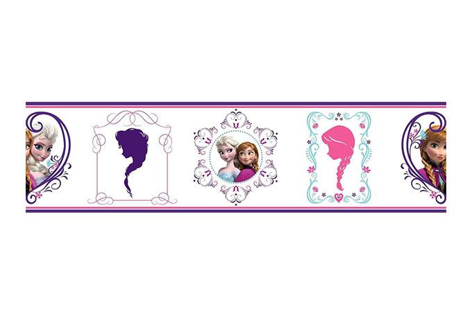Adesivo murale bordo decorativo la regina delle nevi e for Bordo adesivo decorativo