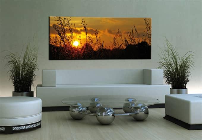 leinwanddrucke sonnenuntergang als wandbild wall. Black Bedroom Furniture Sets. Home Design Ideas