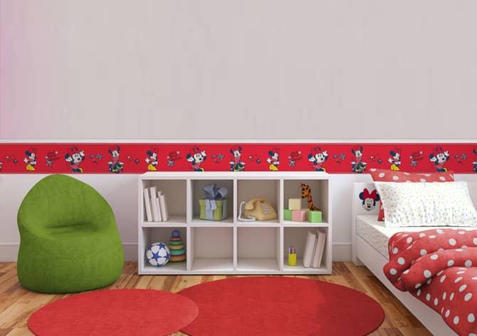 Adesivo murale bordo decorativo minnie mouse wall for Bordo adesivo decorativo