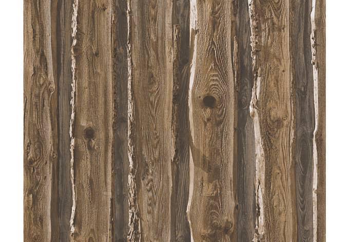 Tapete Holzoptik Rustikal : Mustertapete A.S. Cr?ation Papiertapete Dekora Natur 6 Schwarzbraun