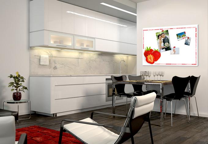 memoboard erdbeer multikulti tolles memo board f r die. Black Bedroom Furniture Sets. Home Design Ideas
