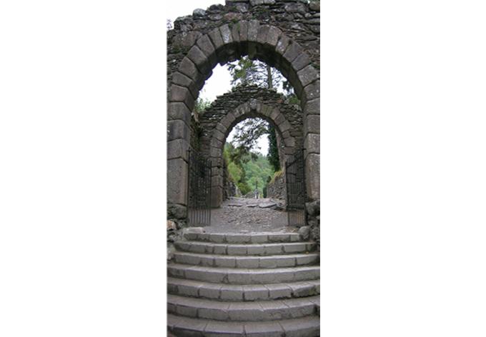 Adesivi per porte rovine del borgo wall - Pellicole adesive per porte ...