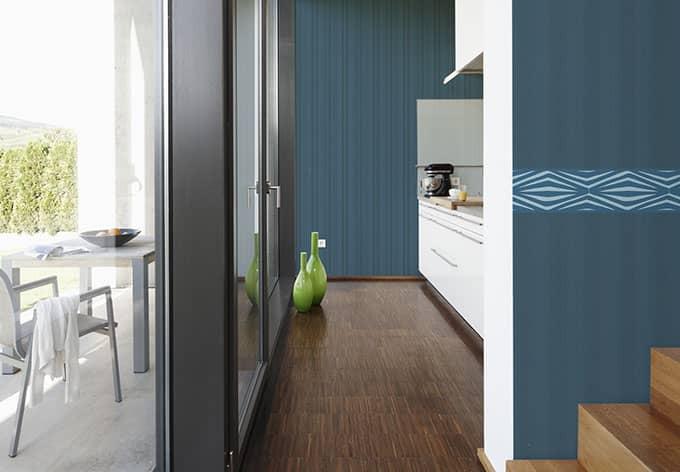 sch ner wohnen vliestapete classic reloaded blau gr n wall. Black Bedroom Furniture Sets. Home Design Ideas
