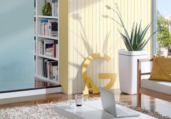 a s cr ation vliestapete ok 5 gelb wei wall. Black Bedroom Furniture Sets. Home Design Ideas