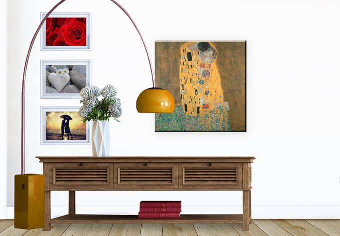 tableau sur toile klimt wall. Black Bedroom Furniture Sets. Home Design Ideas