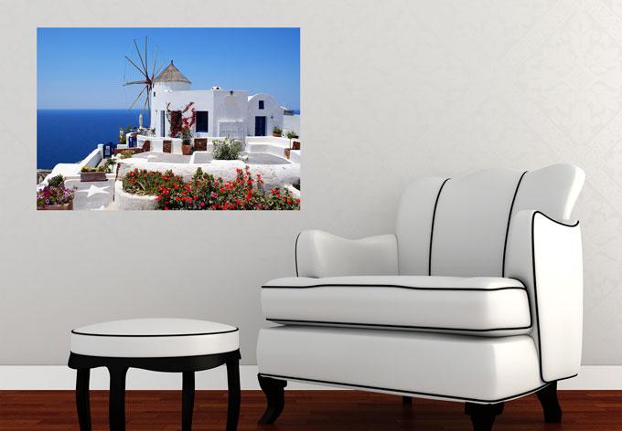 wandbilder von griechenland griechisches wandbild wall. Black Bedroom Furniture Sets. Home Design Ideas