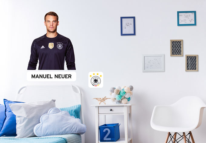wandsticker dfb manuel neuer wall. Black Bedroom Furniture Sets. Home Design Ideas