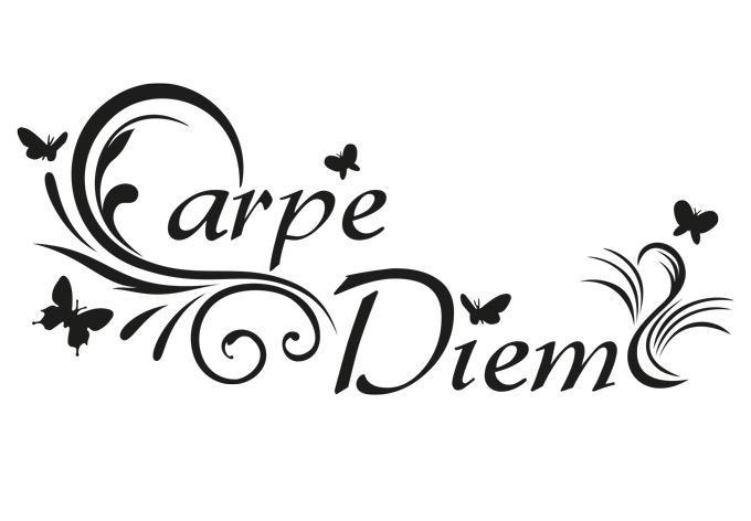 5 sticker meaning - Carpe Diem 3 Wall Sticker Wall Art Com