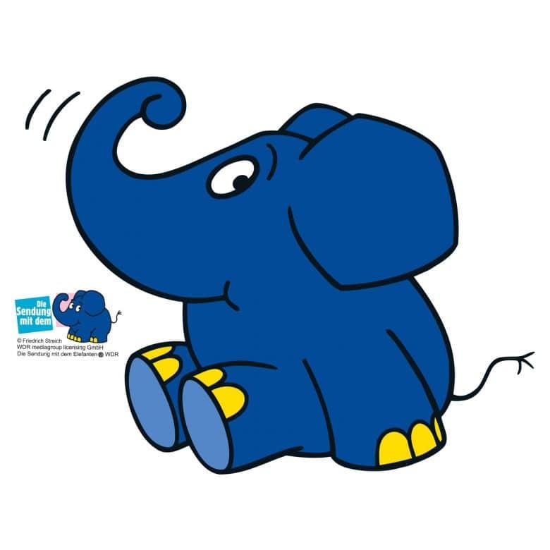 Wandtattoo Elefant 07 Der Blaue Elefant Als Lustiges Motiv Fur Das Kinderzimmer Wall Art De