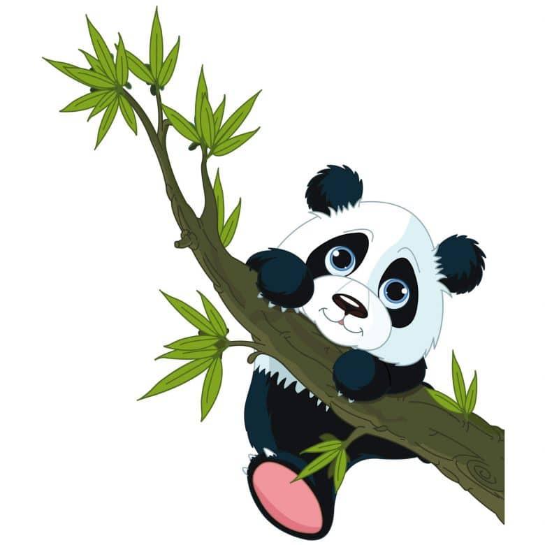 Wandtattoo Kletternder Panda Lustiges Motiv Fur Das Kinderzimmer