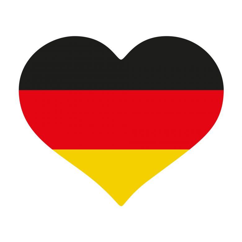 Autoaufkleber Deutschland-Fahne Herz 02 | wall-art.de
