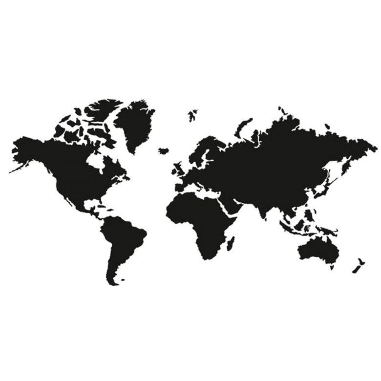 Die Weltkarte Zum Aufkleben Wandtattoo Erde Wall Art De