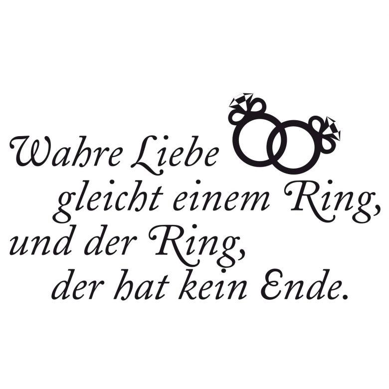 Wandtattoo Wahre Liebe gleicht einem Ring, und der Ring