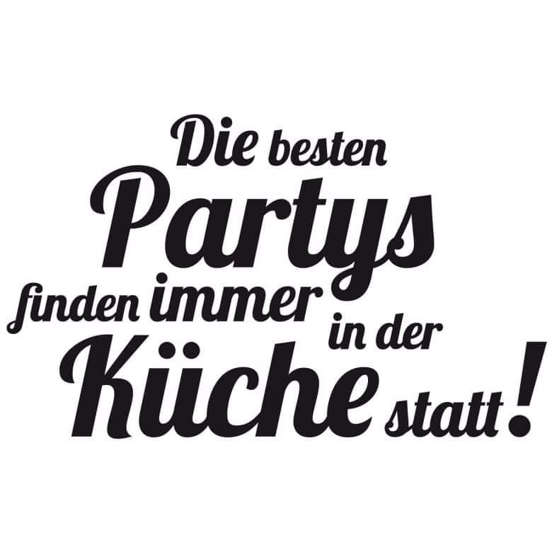 Wandtattoo Die Besten Partys Finden In Der Kuche Statt Von K L Wall Art Wall Art De