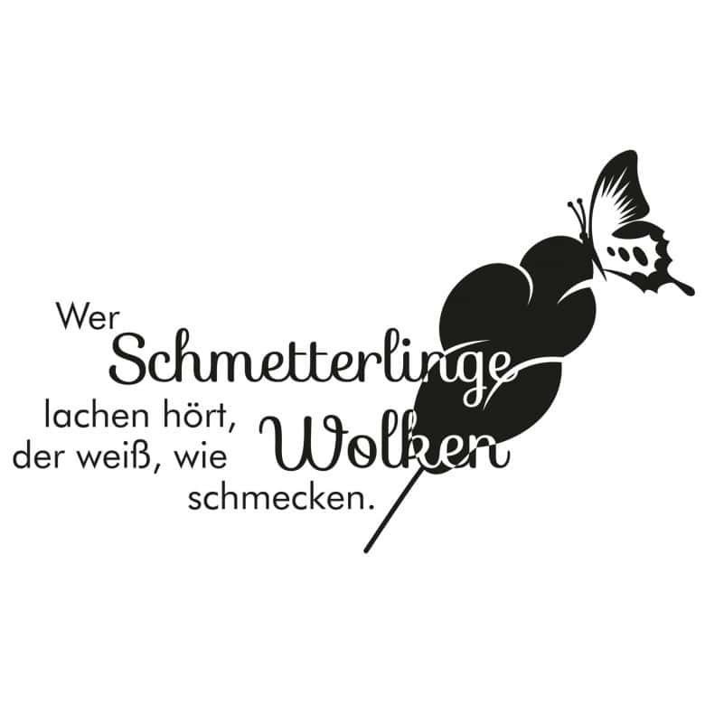 Wandtattoo Wer Schmetterlinge Lachen Hort 2 Wall Art De