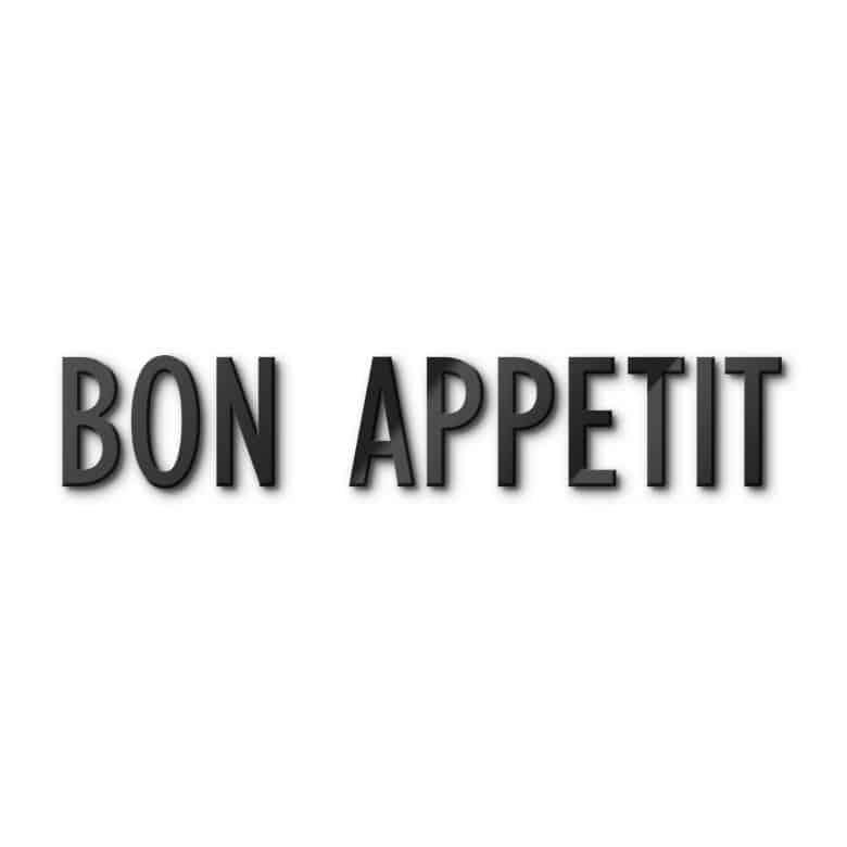 Lettres décoratives verre acrylique - Bon Appetit | wall-art.fr