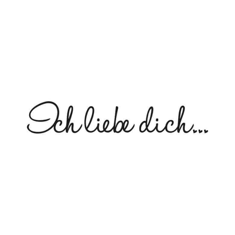 Wandtattoo Ich Liebe Dich 2 Inkl 4 Bilderrahmen Wall Art De