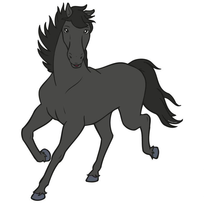 wandtattoo bibi und tina  pferd maharadscha für mädchen