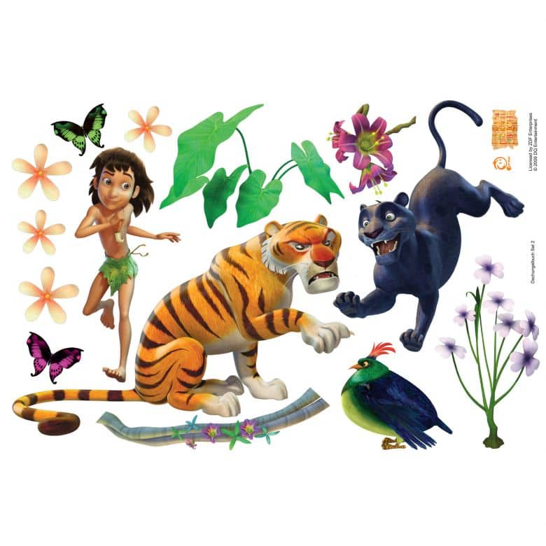 Das Dschungelbuch Wandtattoos Wandaufkleber Mit Mogli Und Balu Wall Art De