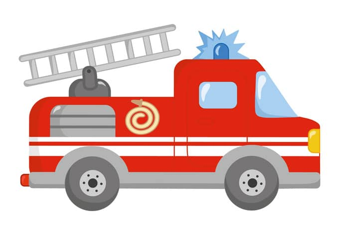 Feuerwehrauto Laubsagevorlage Kinder Holz 10