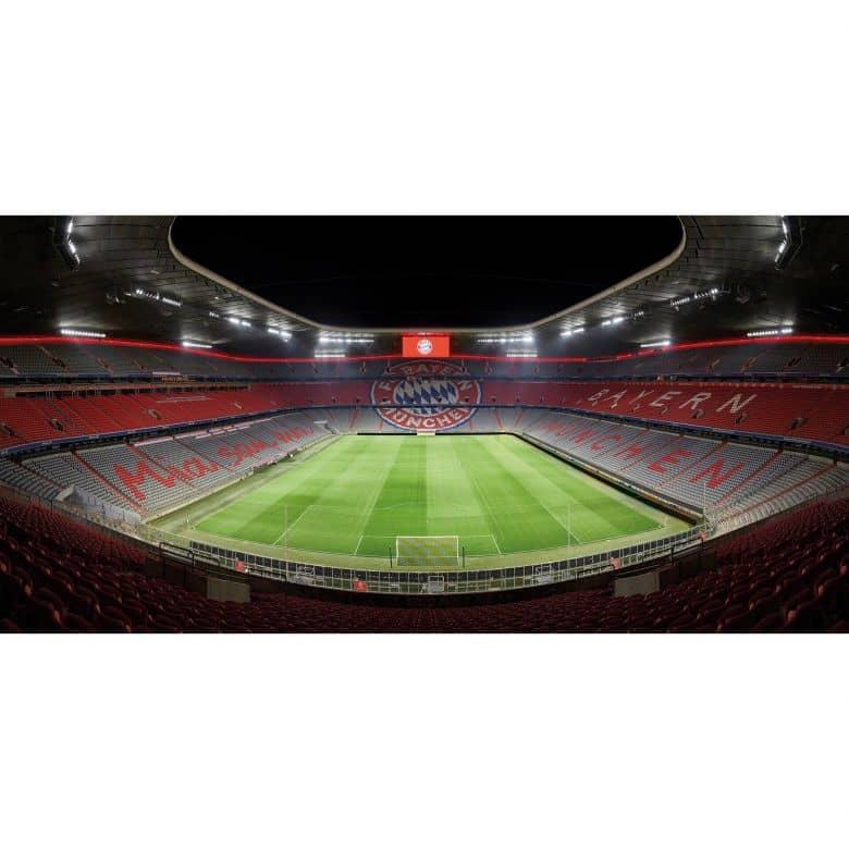 Fototapete Bayern München Stadion bei Nacht