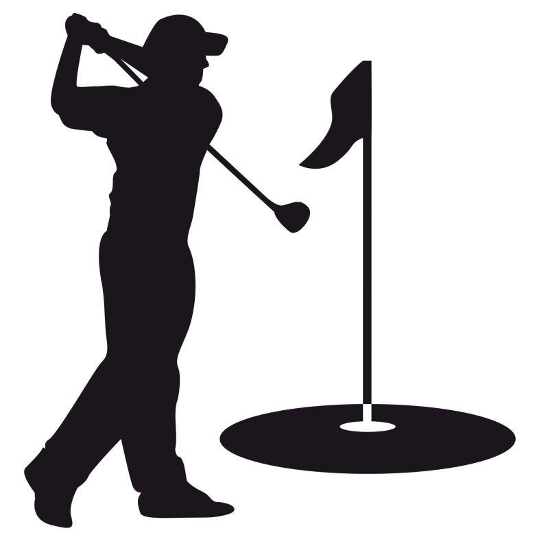 Golfspiller (incl. 6 kroge) wallsticker