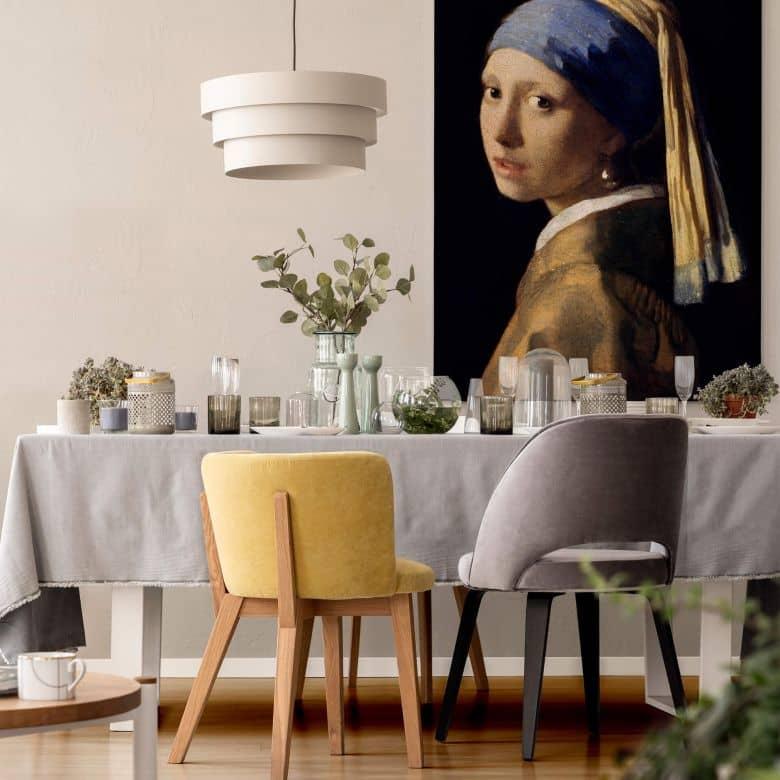 Leinwand Bild auf Keilrahmen Poster Das Mädchen mit dem Perlenohrring Vermeer