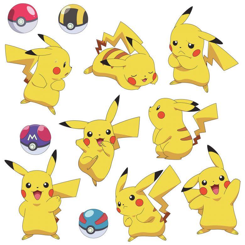 Wall Sticker Set Pokemon Pikachu Wall Art Com